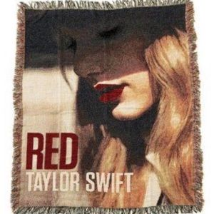 Taylor Swift 50x59 inch throw blanket RED album